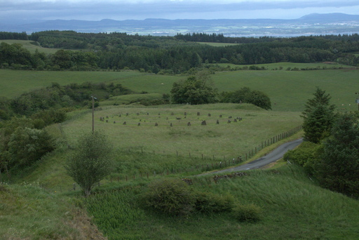 A stone circle in a field